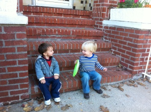The Stoop Life: Sam and his buddy, age 2