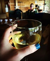 Day drinking at Djerassi with my critique partner, Courtney Leigh.